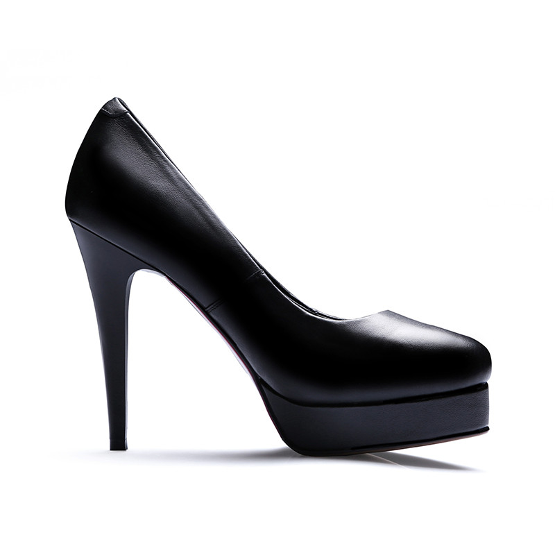 6da31660953 Odetina 2017 New Pointed Toe Genuine Leather Platform Pumps Sexy High Heels  Office Ladies Shoes Elegant Stilettos Big Size 33 42-in Women s Pumps from  Shoes ...