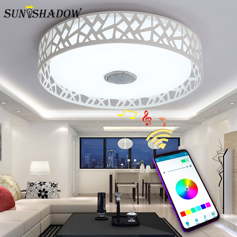 Surface Mount Modern Led Ceiling Light APP With Control Control Led Chandelier Ceiling Lamps For Living room Bedroom Dining room