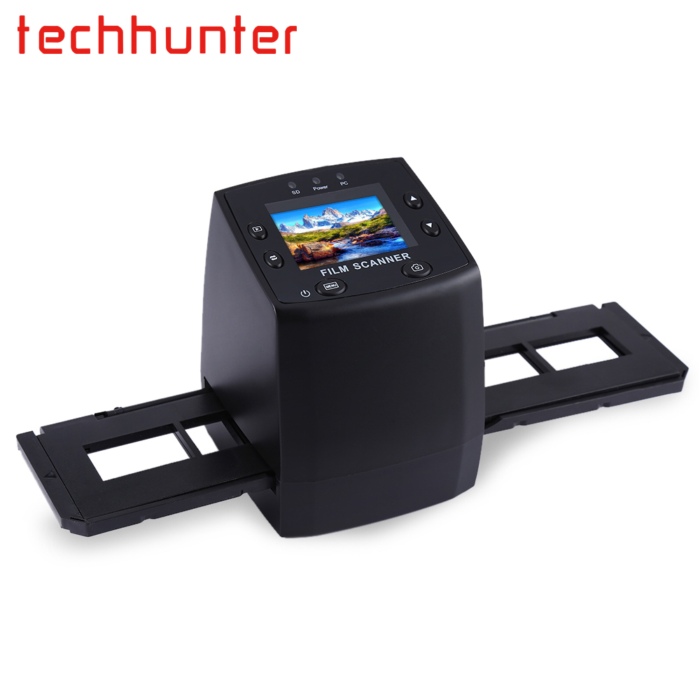 Techhunter EC717 5MP 35mm Negative Film Slide Viewer Scanner USB Digital Color Photo Copier With 24 Hours Fast Shipping dental x ray film reader viewer digitizer scanner usb 2 0 m 95 super cam