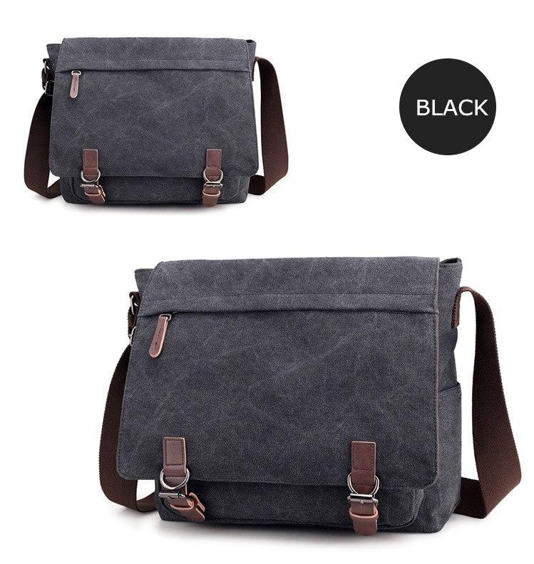 Micom Canvas Men Messenger Bags Vintage Shoulder Belt Bag Large Capacity Business Travel Bag Men\`s Canvas Crossbody Handbag New (14)
