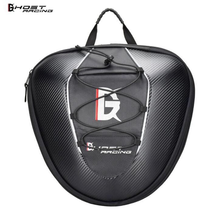 GHOST RACING Waterproof Motorcycle Tail Bag Multifunction Rear Seat High Capacity Rider Backpack
