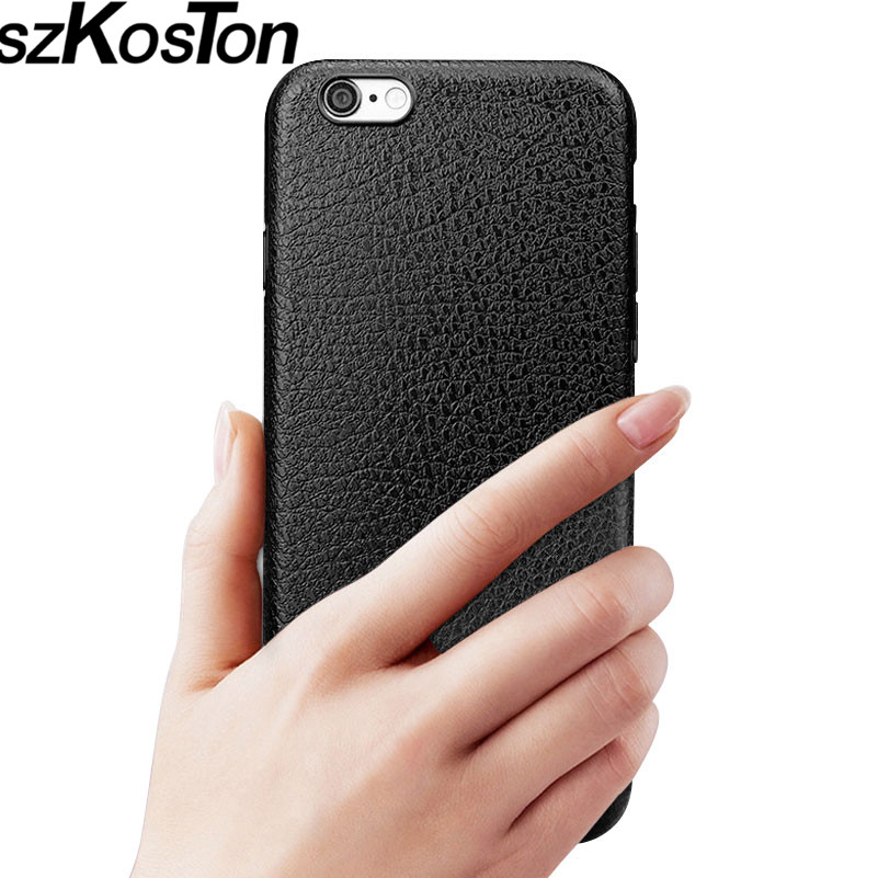 Business casual Mobile phone bag case For iPhone 6 6s Case TPU Leather shell for iPhone 6 s plus Accessories back cover phone