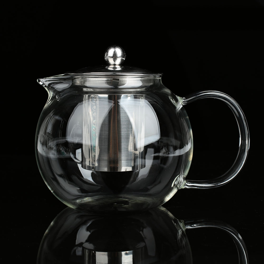 SOLEDI Чай горшок стакан для фруктового сока термостойкие кухонный чайник Кофе фильтр напитки деревянные чашки для чая Посуда для дома - Цвет: 650ml