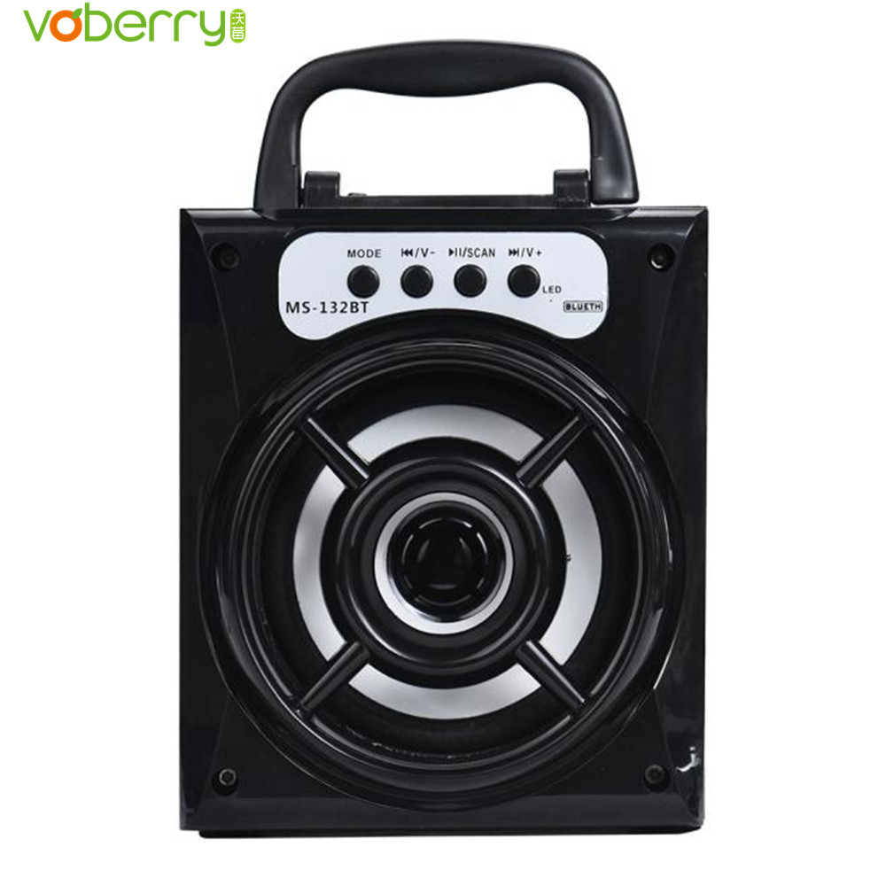 Outdoor Bluetooth Wireless Portable Speaker Super Bass High Power Output MP3 Player Color Light Speaker with USB/TF/AUX/FM Radio