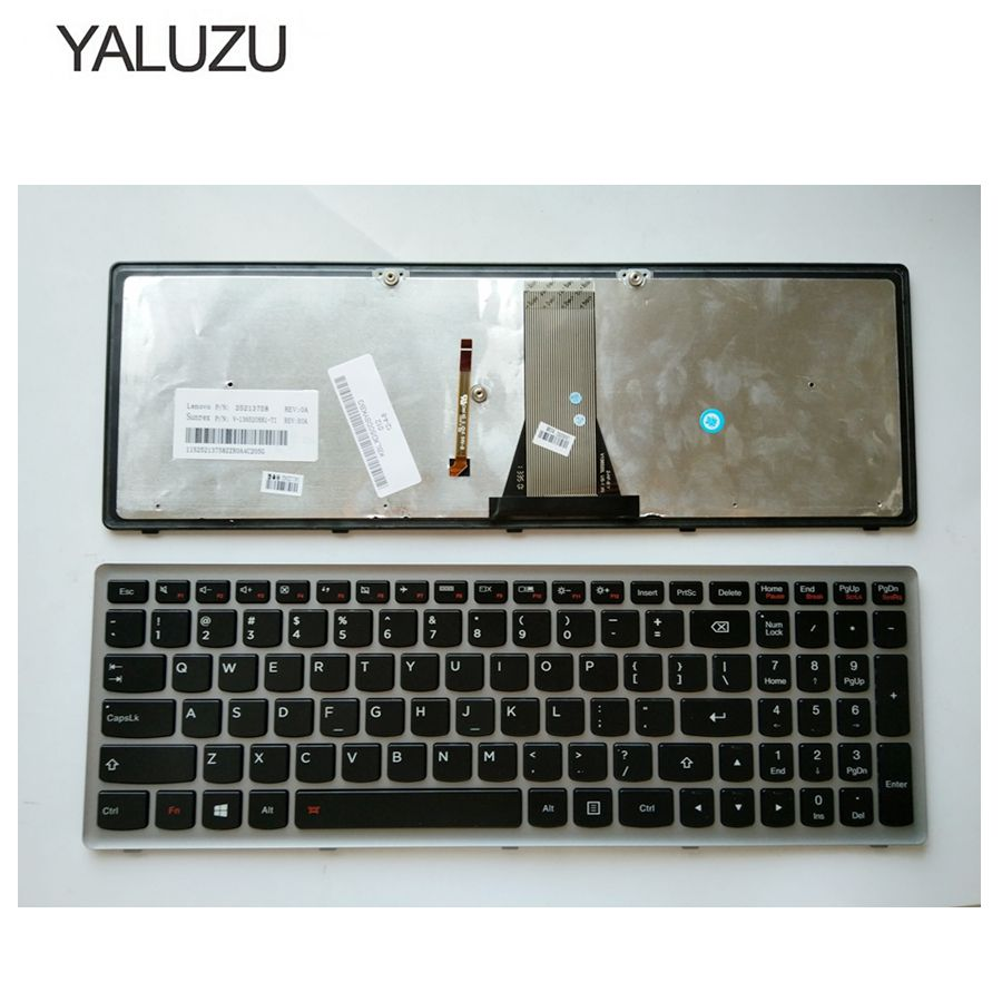 YALUZU NEW English Laptop Keyboard FOR LENOVO S500 G500S G505S Z501 Z510 US With Backlit