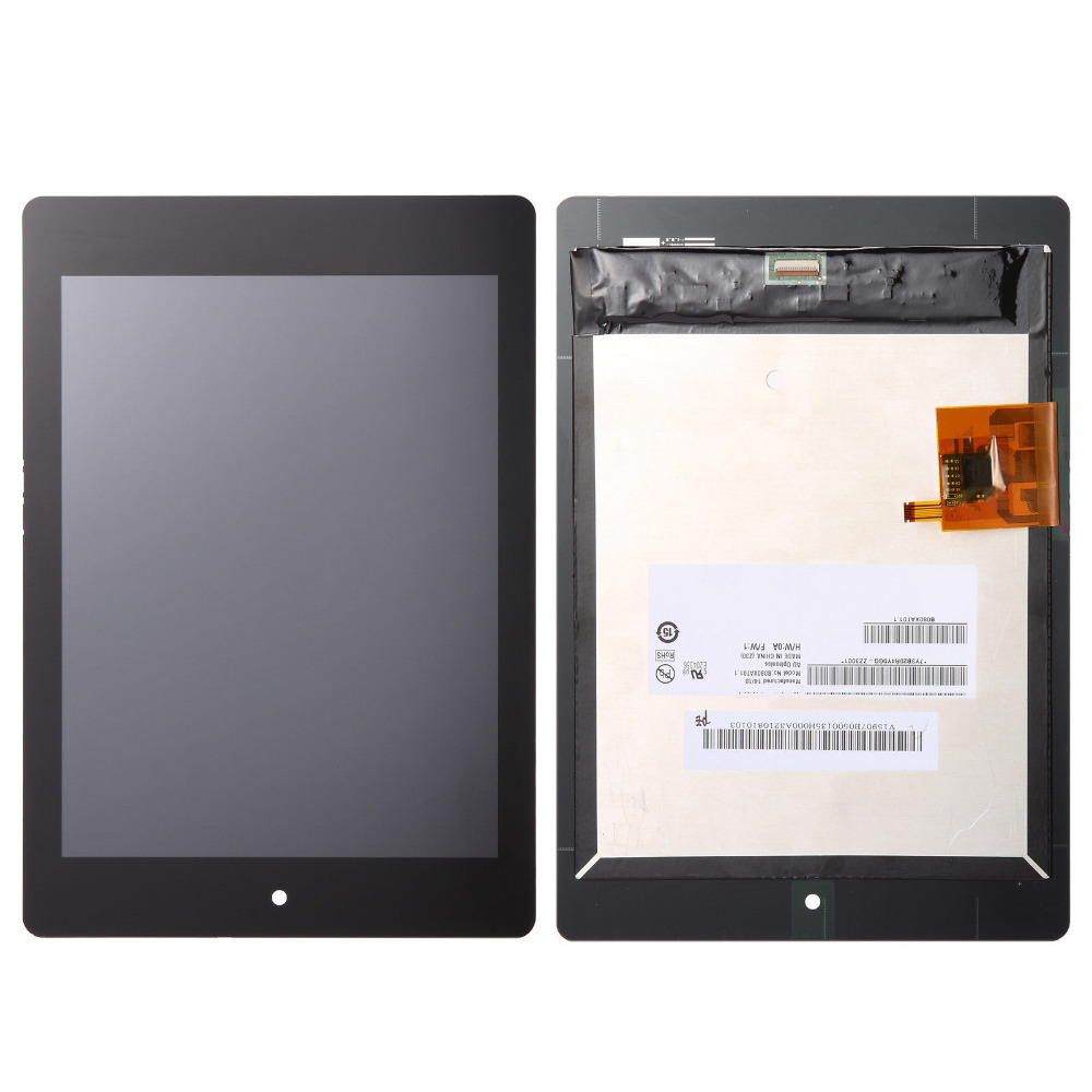 Full Digitizer Touch screen Sensor Glass + Lcd Display Panel Screen Monitor Assembly For Acer Iconia Tab A1-810 A1-811 A1 810 5pcs lot high quality 7 9 for acer iconia a1 830 a1 830 25601g01nsw touch screen sensor tablet digitizer panel front glass lens