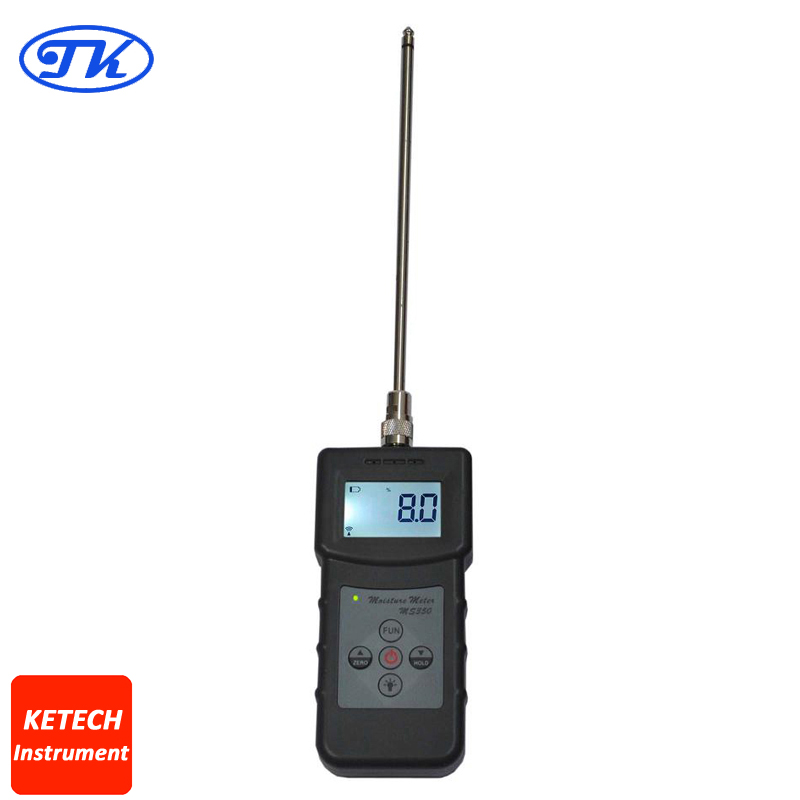 MS350 Chemical Combination Powder, Coal Powder Capacitive Moisture Meter ms300 chemical combination powder coal powder and powder materials silver sand soil high frequency moisture meter