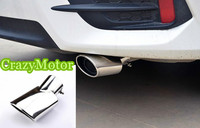 For Toyota C HR 2016 2017 Exterior Stainless Steel Tail End Pipe Exhaust Muffler Tip 1pcs