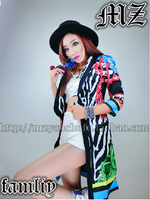 NEW HOT Women S Brand Female DJ Singer Costumes 2ne1 CL Models Same Color Zebra Costumes