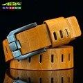 GUIZUE 2016 Nova Marca Mens Cintos de Cor Sólida Cinto De Couro PU Moda Casual Retro Pin Fivela Cintos de Grife Para Homens de Alta Qualidade