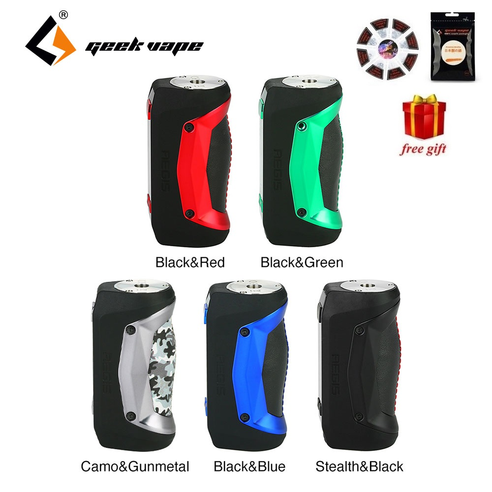 Free Gifts Original Geekvape Aegis Mini Mod 80W with Built in 2200mah Battery for Geekvape Cerberus Tank Box MOD VS Aegis Legend-in Electronic Cigarette Mods from Consumer Electronics    1