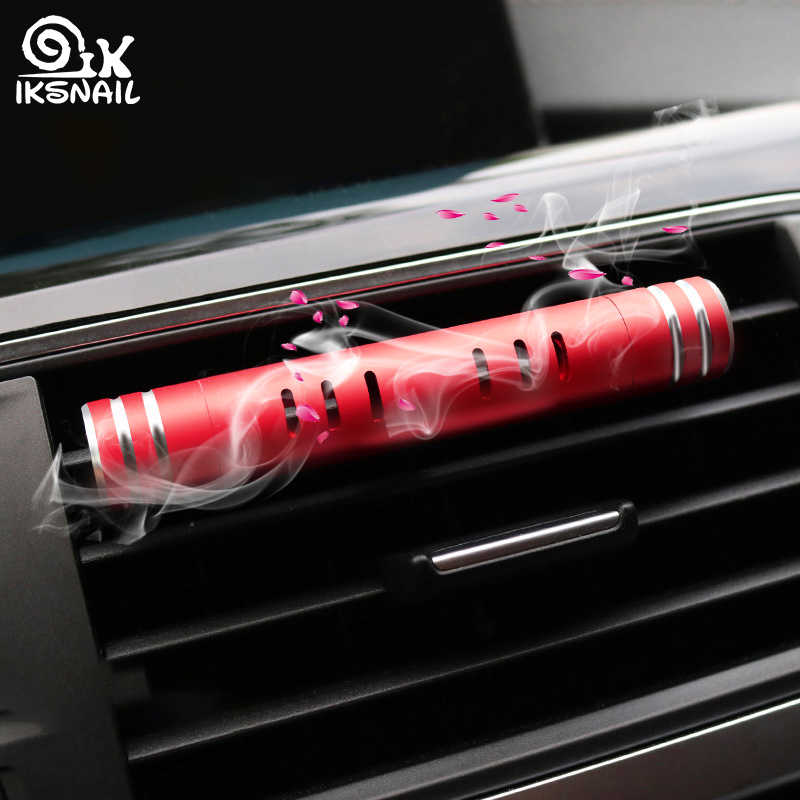 IKSNAIL Car Air Freshener Air Outlet Aromatherapy Clip with 2 Free Aroma Sticks Creative Car Solid Perfume Diffuser Decoration