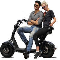 Citycoco Scooter Hot 1000W Electric Lithium Battery Fat 2 Wheel GPS Waterproof Charging Port Personalized Adult Men Scooter