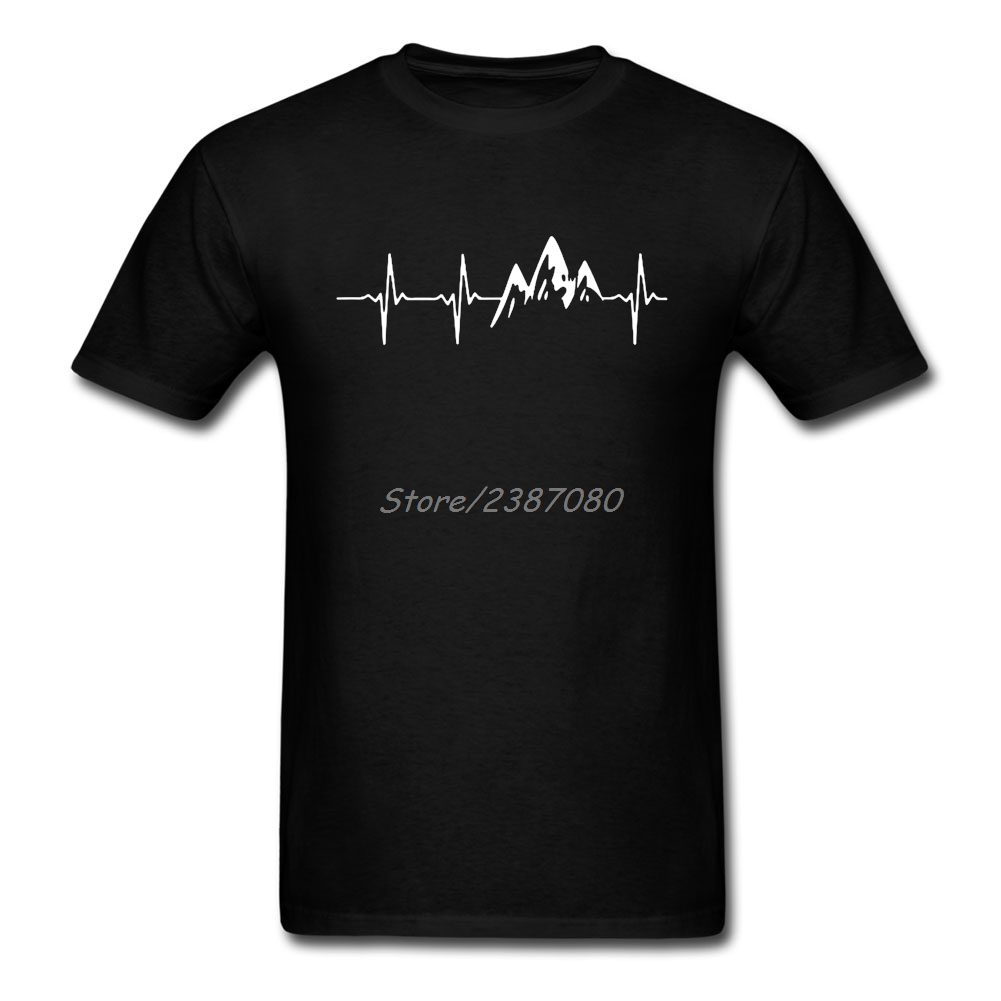 MOUNTAIN IN MY HEARTBEAT T Shirt Cotton Crewneck Short Sleeve Custom Twin Peaks Brand-clothing Top Random Plus Size Men T-shirt
