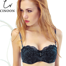 Women sexy Lace lingerie Push Up Half Cup bra and panty set Lounge Bra and Panties Embroidery Bra Set underwear intimates