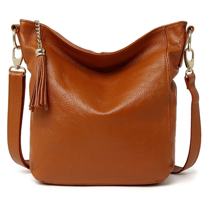 New Genuine Cow Leather Women Bag Brand Luxury Cowhide Womens Messenger Bags Fashion Black Brown Tassel Lady Bag Free Shipping New Genuine Cow Leather Women Bag Brand Luxury Cowhide Womens Messenger Bags Fashion Black Brown Tassel Lady Bag Free Shipping