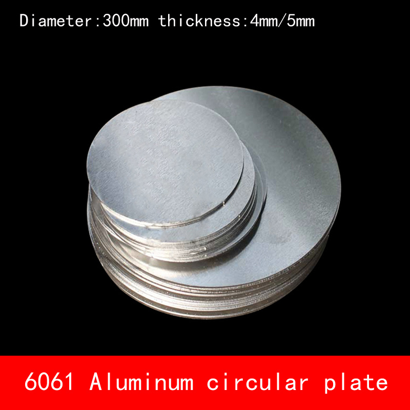 Diameter 300mm*4mm 5mm circular round Aluminum plate 4mm 5mm thickness D300X4MM D300X5MM custom made CNC for parts cnc machined rapid prototyping metal part custom made aluminum parts