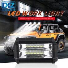 цена на DXZ 5 Inch DC10-30V 72W IP67 6000K Flood Spot Beam Combo LED Work Light for Offroad Truck SUV