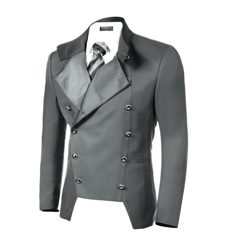 Chic Style Men's Suit Jacket Double-breasted Handsome Men's Suit Jacket Lapel Custom Sizes And Colors Business Leisure Jacket
