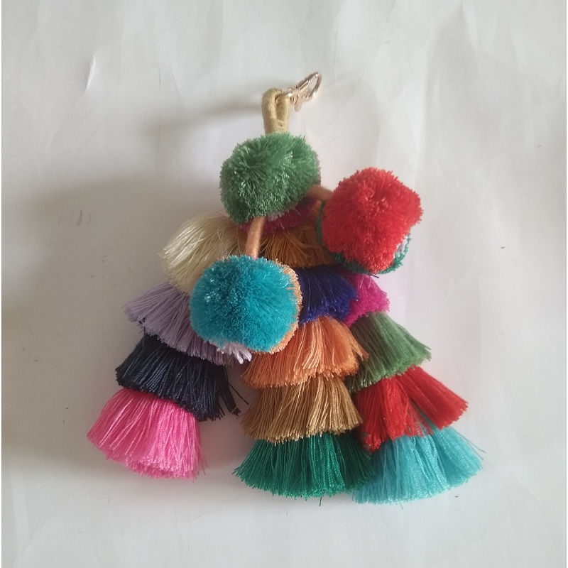 Caker Brand 2018 Women Colorful Tassel High Quality Sweater Yard Tassels Bag Accessory
