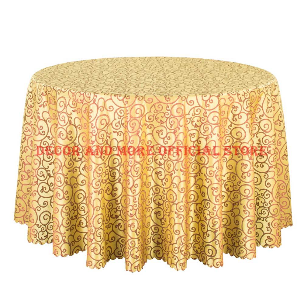 225 & US $153.0 15% OFF|10PCS Top Quality Jacquard Gold Table Linen Square Decor Dining Table Cloth For Hotel Party Wedding Round Table Covers Wholesale-in ...