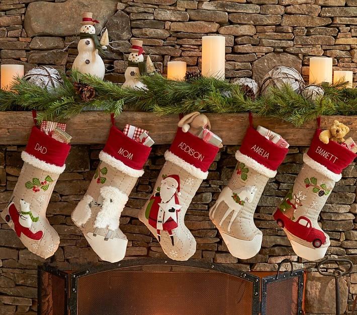 Bordar nombres personalizados medias de navidad de regalo de navidad bolsa de regalo divertido - Calcetines de navidad personalizados ...