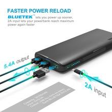 Carregador de Bateria Tecknet Power Bank 30150 MAH 3 Portas USB Portátil Externa Powerbank Inteligente de Carga Rápida Tecnologia Carregamento