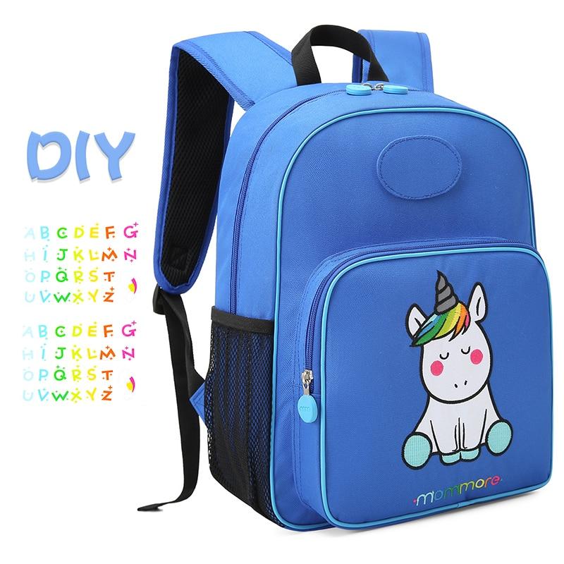 2019 Mommore Unicorn Kids Backpack Waterproof School Bag For Boys ... deeb8b41c1466