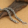 2016 Hot Sale 6mm hollow twist rope necklace 100% 925 sterling silver fashion jewelry brand necklace pendant women or men ZN47