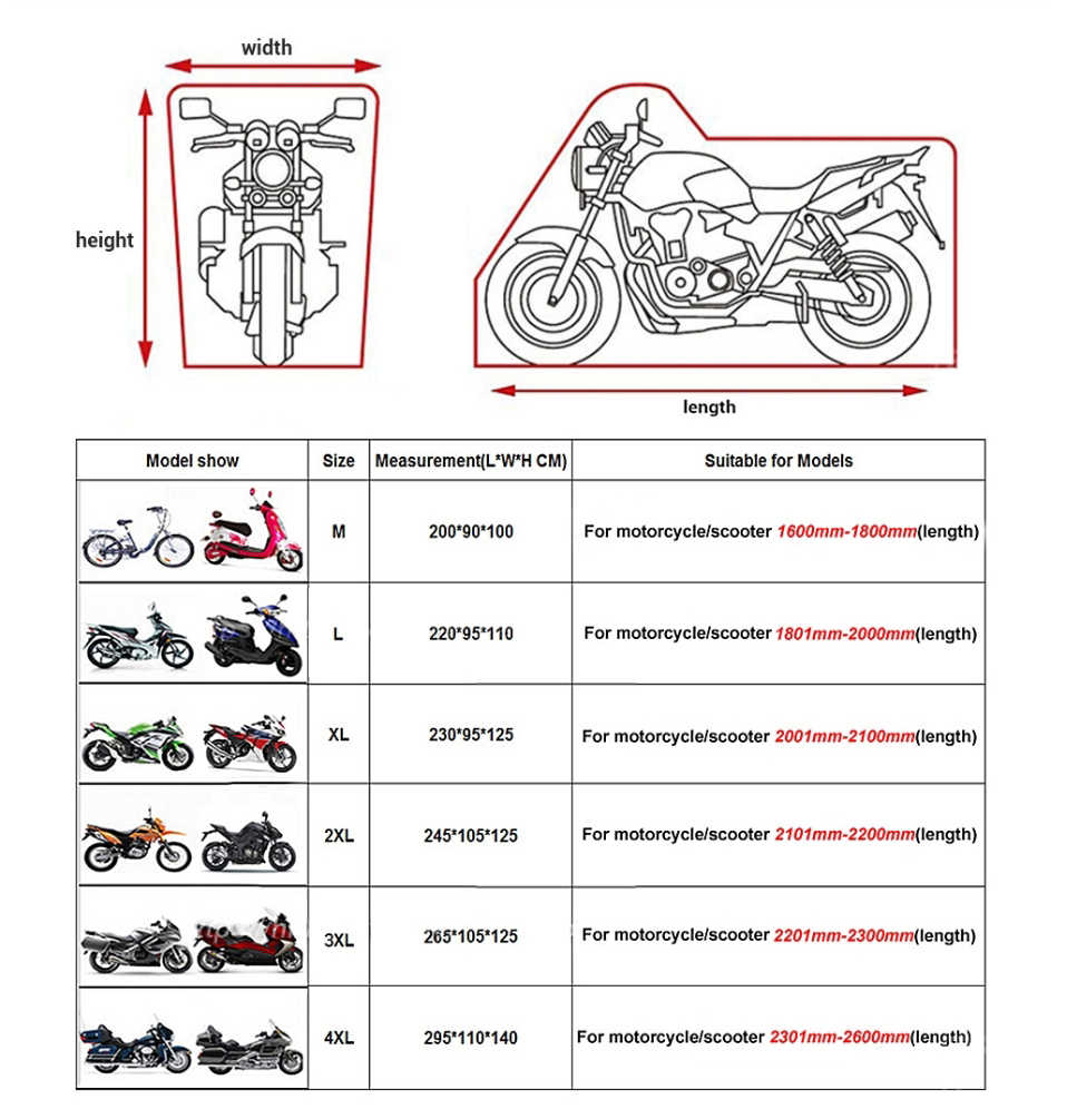 WOSAWE мотоциклетный чехол для улицы с защитой от УФ-лучей, чехол для скутера, водонепроницаемый пылезащитный чехол для мотоцикла, дождевик, Внутренний замок с отверстиями