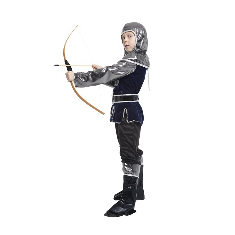 Kids Child Medieval Crusader Warrior Archer Hunter Costume for Boys Halloween Carnival Party Costumes in Boys Costumes from Novelty Special Use