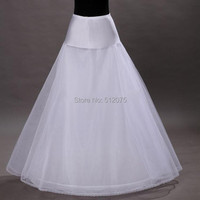 Free Shipping 100 High Quality A Line 1 Hoop 2 Layer Tulle Wedding Bridal Petticoat Underskirt