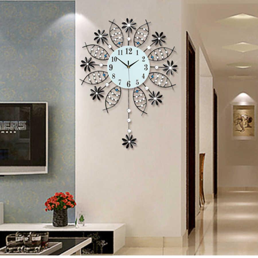 relojes para pared de sala Reloj De Pared Moderno Sala De Estar Europeo Creativo Shabby
