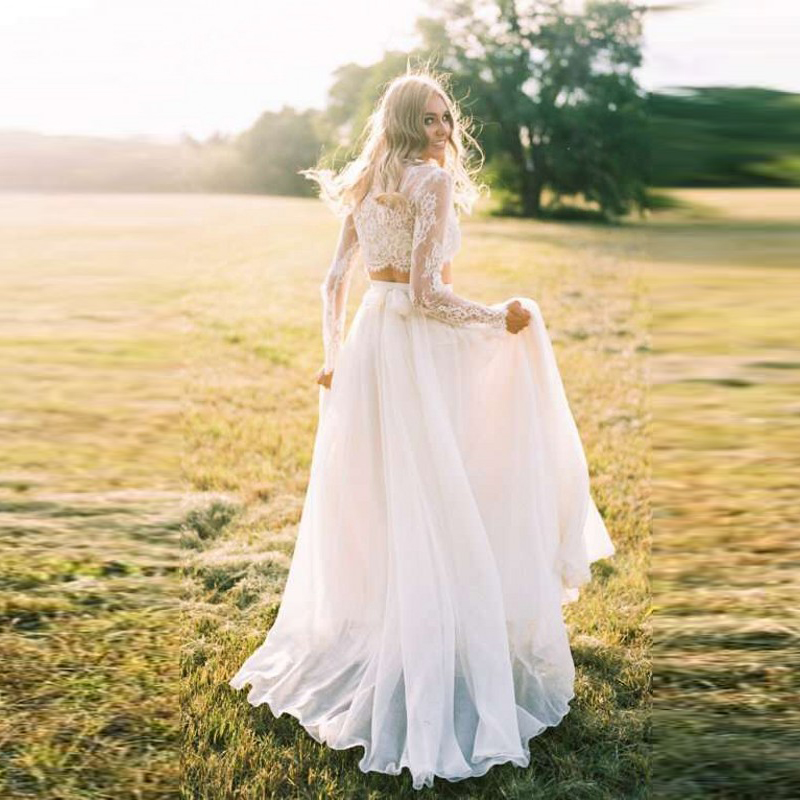 dc7d9e4389c18 US $39.06 7% OFF|Elegant White Chiffon Skirt Custom Made Zipper Waistline A  Line Floor Length Long Maxi Skirt Wedding Bridal Skirts Women-in Skirts ...