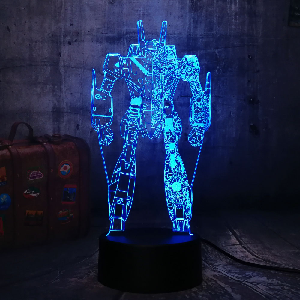 Pacific Rim Action Figures Mako Gipsy Danger Boy Movie Gift Desk Table Rgbw 3d Led Night Light Colorful Lamp Dropship Aw-2302 Led Lamps
