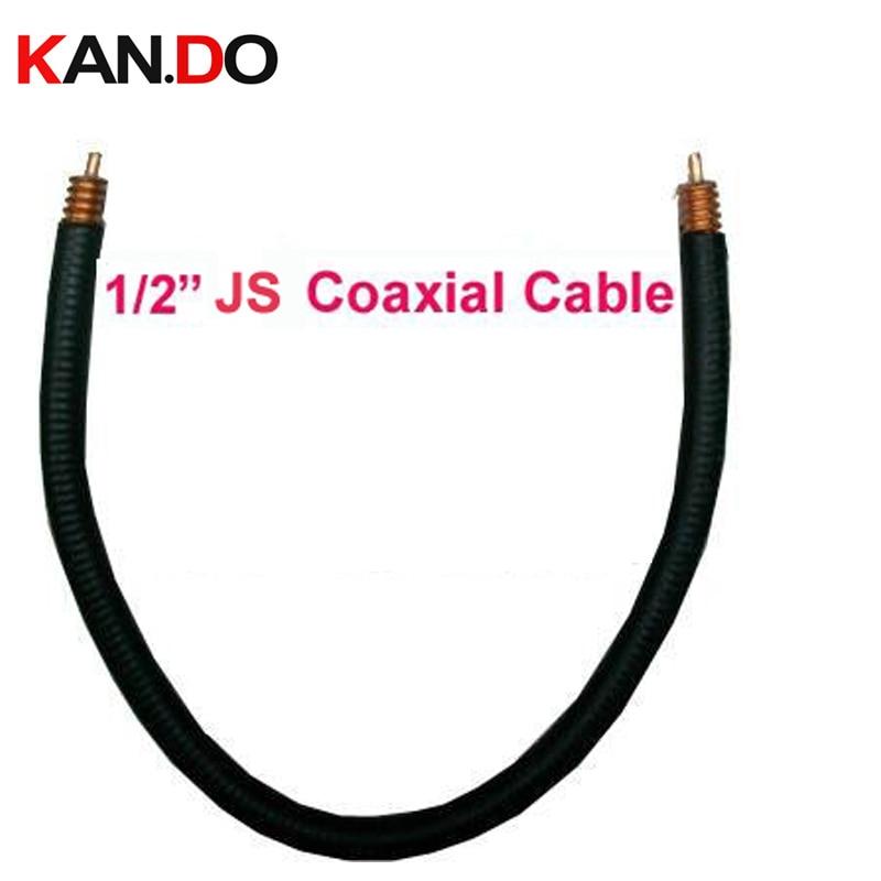20 м длинный 1/2 JS коаксиальный кабель, 50 ом питательный кабель изоляция PE черная куртка гофрированная медная трубка кабель, JS кабель передачи