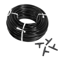 20m 4/7mm Hose Garden Water Micro Irrigation Pipe With 20 Pcs Tee Connectors Gardening Lawn Agriculture Sprinking Drip Tube|Garden Water Connectors| |  -