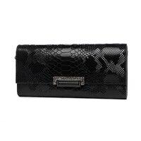 Womens Evening Bag Clutch Wallet Ladies Shoulder Hand Bag Day Clutches Handbag Genuine Leather Serpentine Long Purse Card Holder