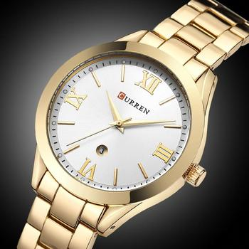 CURREN Women´s Top Brand Luxury Casual Rose Gold Steel Classic Dial Ultra-Thin Quartz Watches 2