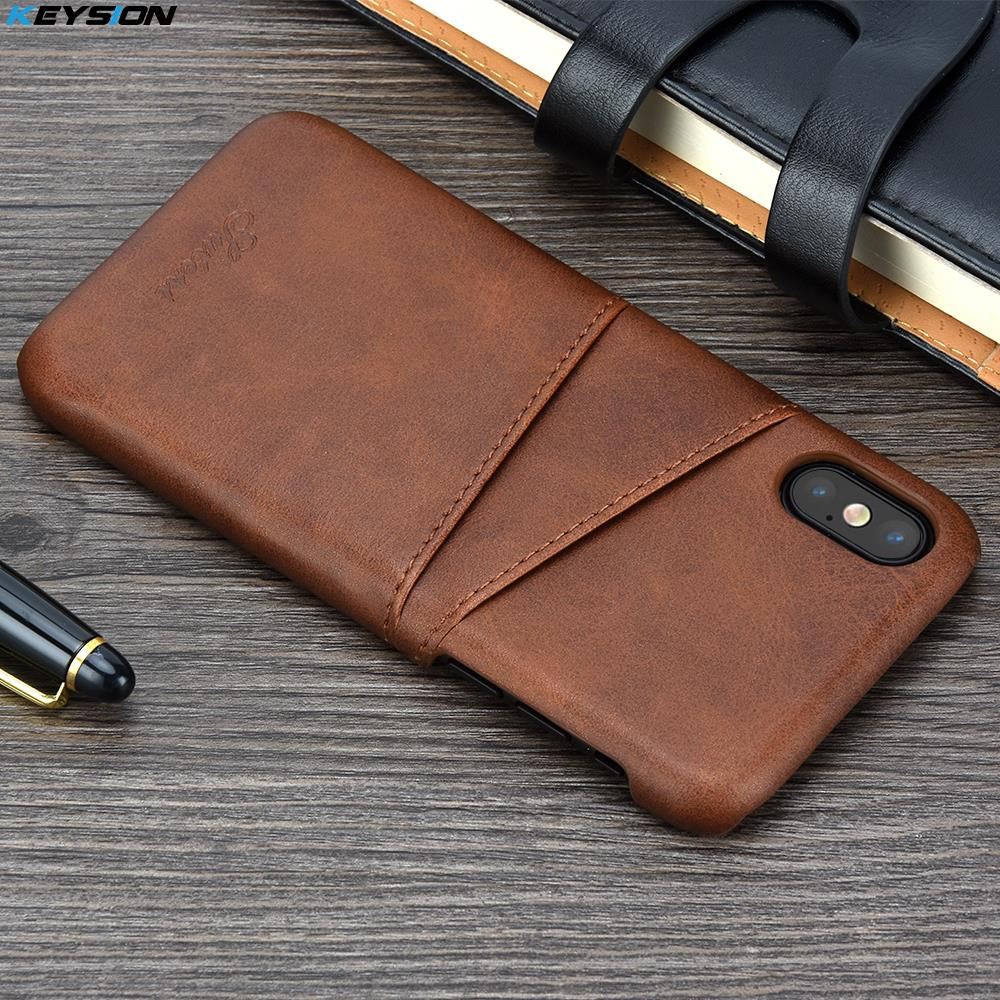 KEYSION Phone Case For iPhone XS XS Max Cover Leather Luxury Wallet Card Slots Back Capa For iPhone XR Cases Fundas Comfortable