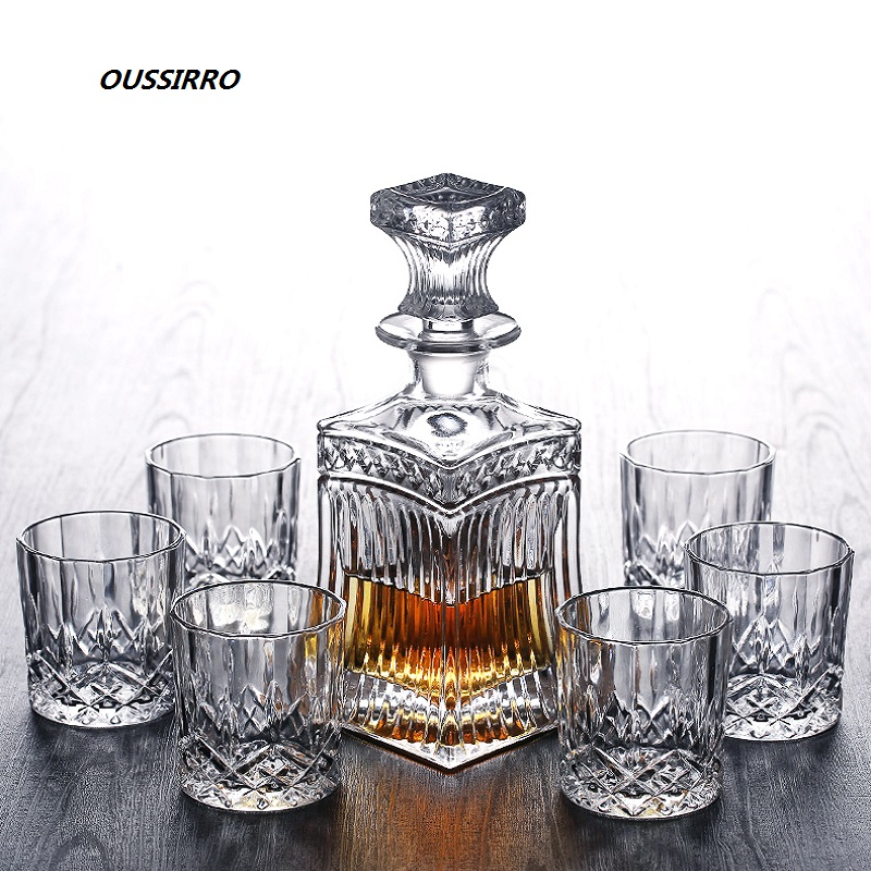Russia Vodka Decanter Whiskey Bottle Crystal Glass Wine Beer Containers Glass Bottle Glass Cup Home Bar Tools Decoration image
