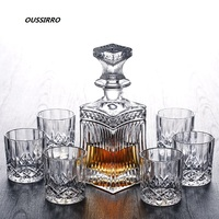 Russia Vodka Decanter Whiskey Bottle Crystal Glass Wine Beer Containers Glass Bottle Glass Cup Home Bar Tools Decoration
