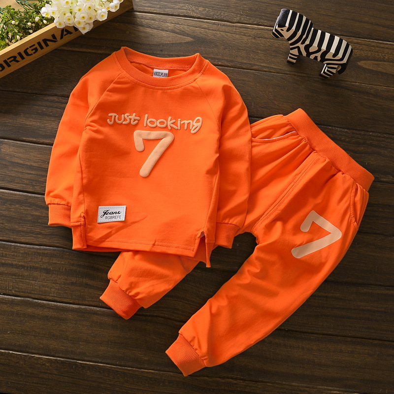 Kids boys Clothes spring 2017 New Toddler baby girl boy Clothing Set Children Clothing sets T-shirt + Pants For 1 2 3 4 Years navy style boys t shirts 2016 new spring fake two pieces striped patch kids t shirt brand boy clothes casual children clothing