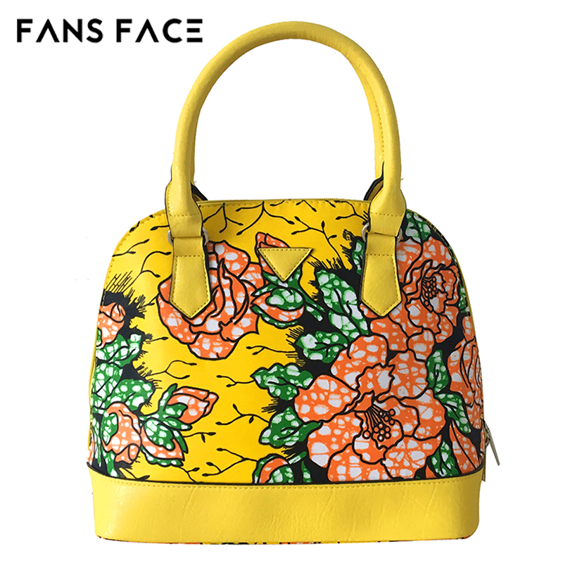 FANS FACE African Women Fashion Bags Floral Print Luxury Handbags Women Bags Designer Traditional Vintage Women Casual Bag Big