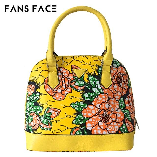 Fans Face African Women Fashion Bags Fl Print Luxury Handbags Designer Traditional Vintage