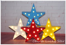 Free Shipping  LIGHT UP Mini 9 Plastic Marquee sign Light Star Sign LED neon light Chistmas Indoor Dorm
