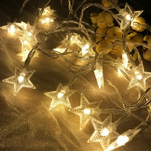 New Year 1.5M 3M 6M 10M LED Star String Lights Fairy Garland Waterproof For Christmas Wedding Home Decoration Battery Powered string lights new 1 5m 3m 6m fairy garland led ball waterproof for christmas tree wedding home indoor decoration battery powered