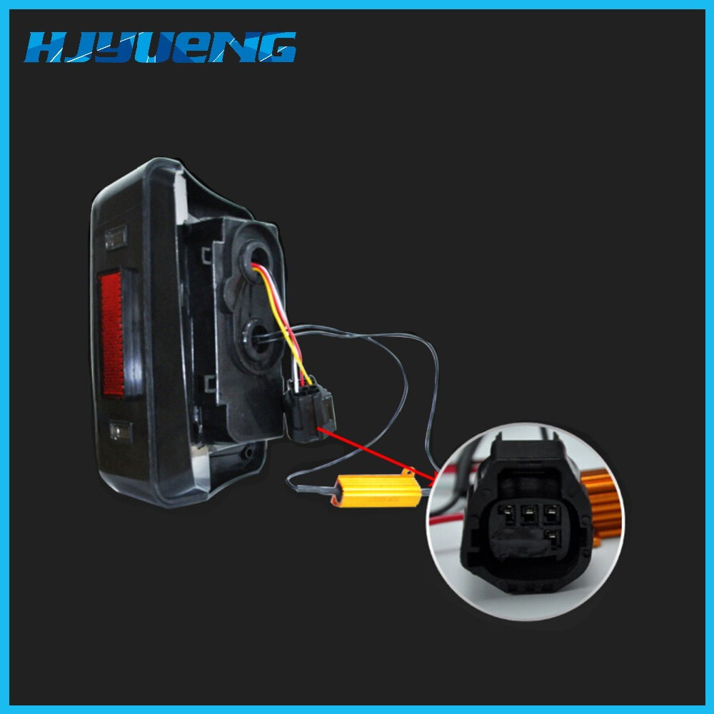 Image 4 - HJYUENG LED 2007 2016 For Jeep Wrangler with Running Brake Backup Reverse Turning Signal Light Tail Lamp Assembly-in Car Light Assembly from Automobiles & Motorcycles