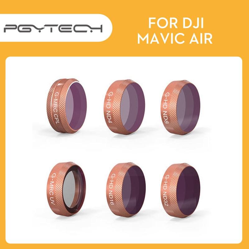 PGYTECH Mavic Air Lens Advanced HD Filter Kits MRC UV MRC CPL ND4 ND8 ND16 ND32