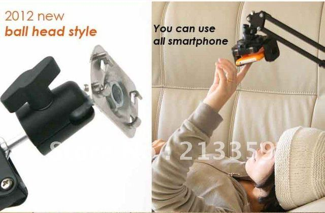 Free Shipping for All ipad iphone kindle galaxy tab handsfree mount holder for sofa bed worktable also for Iphone 5